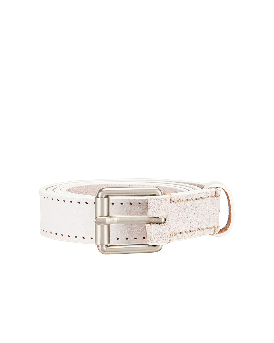 Image 1 of Lemaire Reversed Thin Belt in Off White