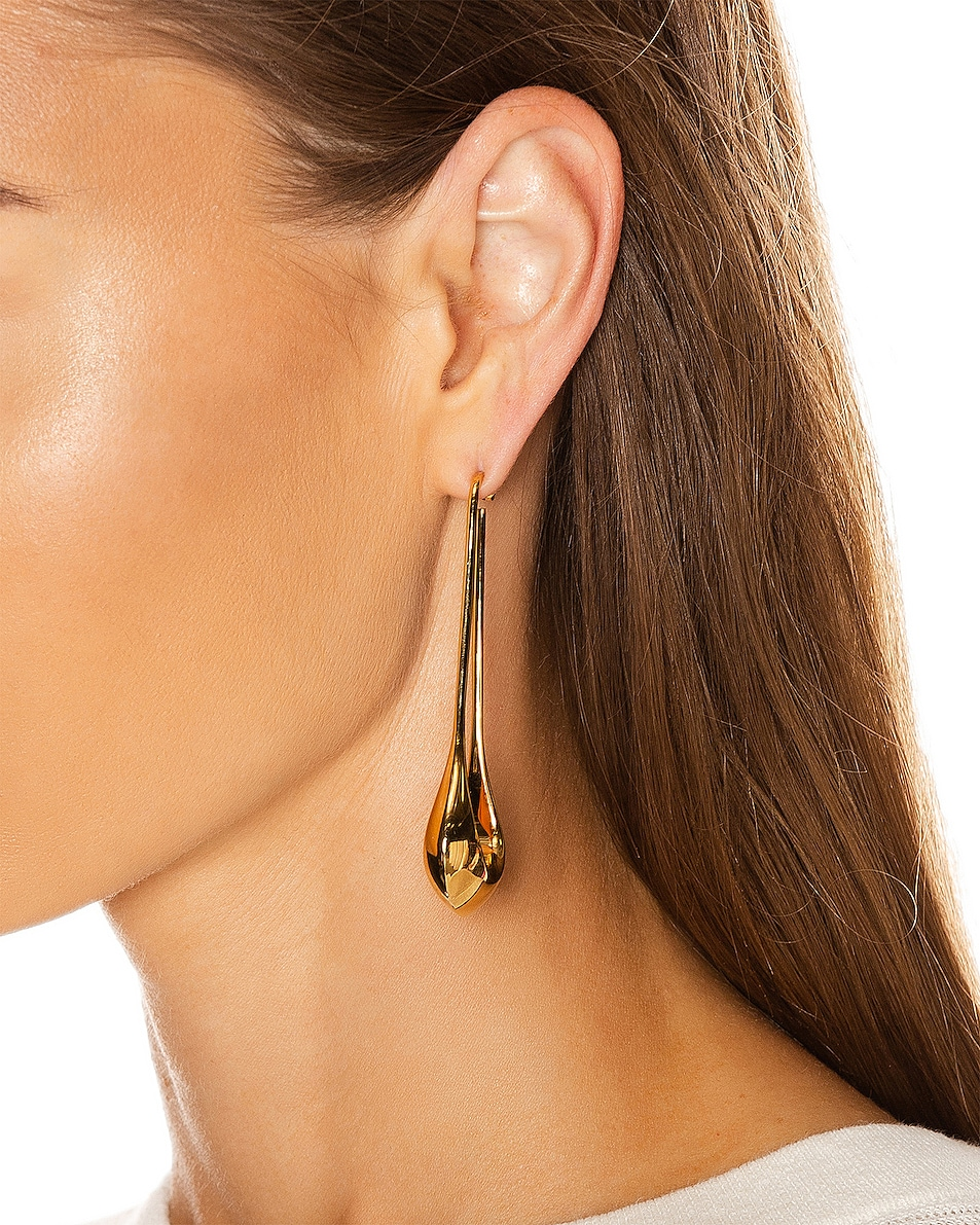 Image 2 of Lemaire Long Drop Earrings in Gold