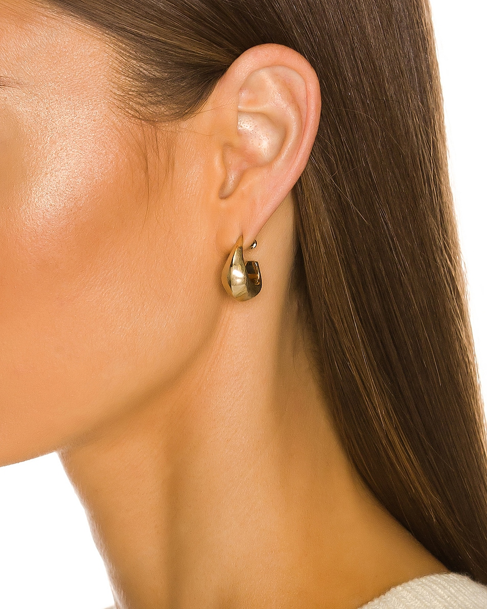 Image 2 of Lemaire Mini Drop Earrings in Gold
