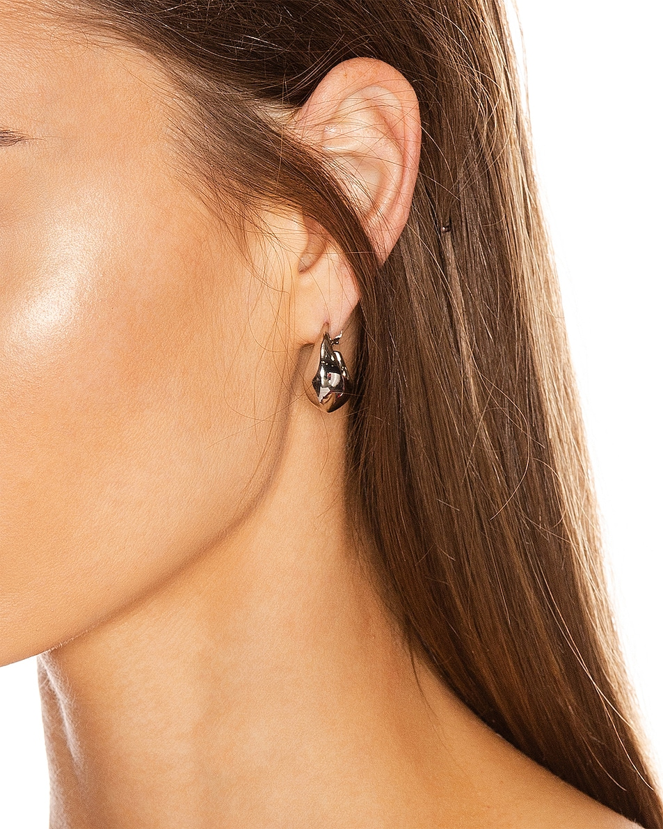 Image 2 of Lemaire Mini Drop Earrings in Silver