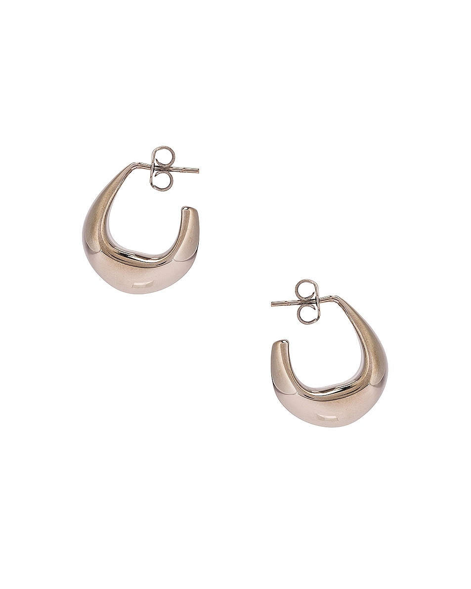 Image 3 of Lemaire Mini Drop Earrings in Silver