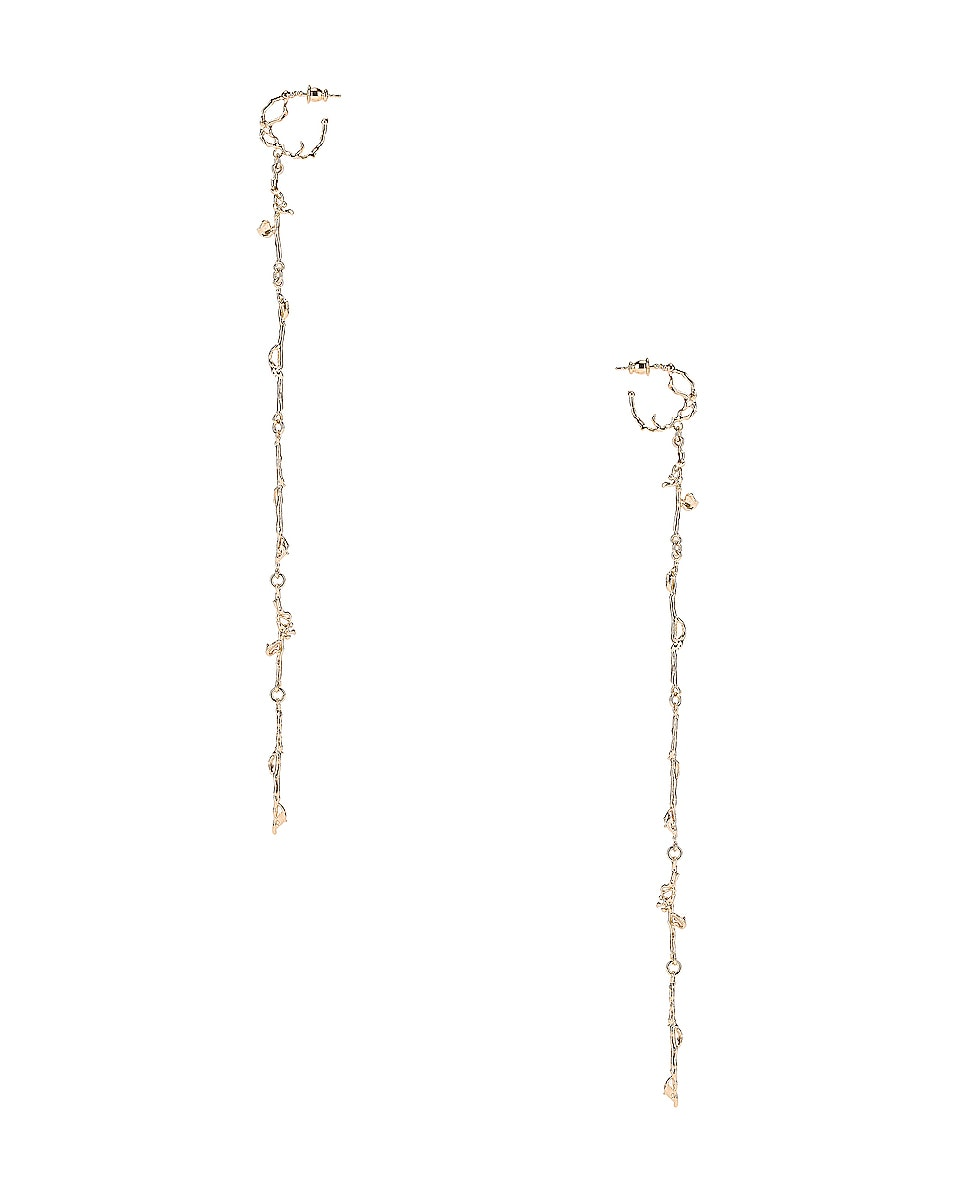 Image 1 of Lemaire Twig Creole Earrings in Moonlight Gold