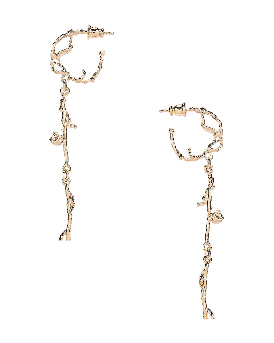 Image 4 of Lemaire Twig Creole Earrings in Moonlight Gold