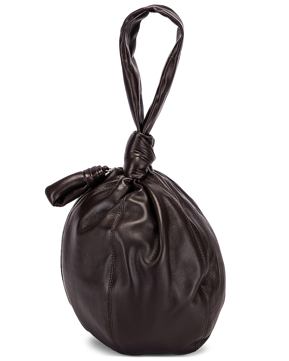 Image 1 of Lemaire Leather Purse Bag in Dark Chocolate