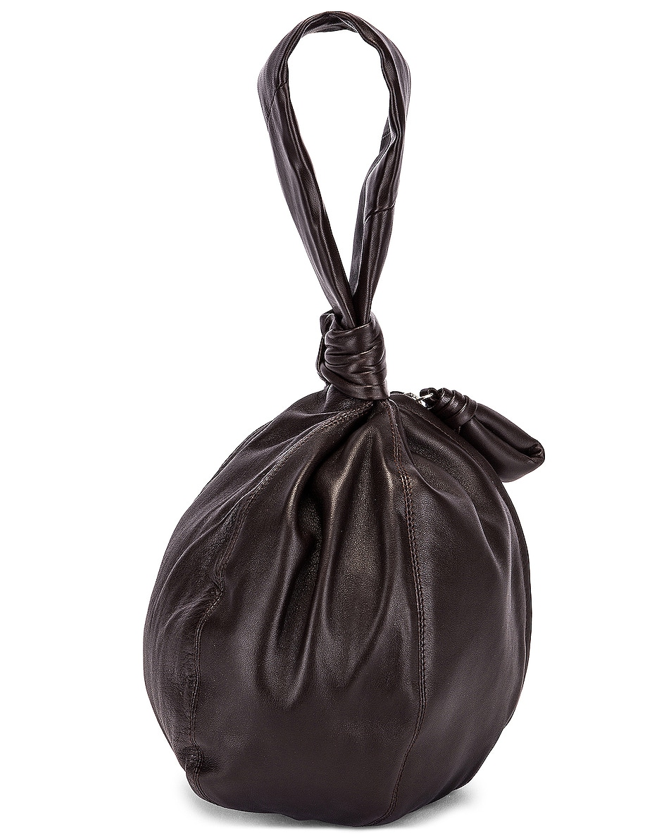 Image 2 of Lemaire Leather Purse Bag in Dark Chocolate