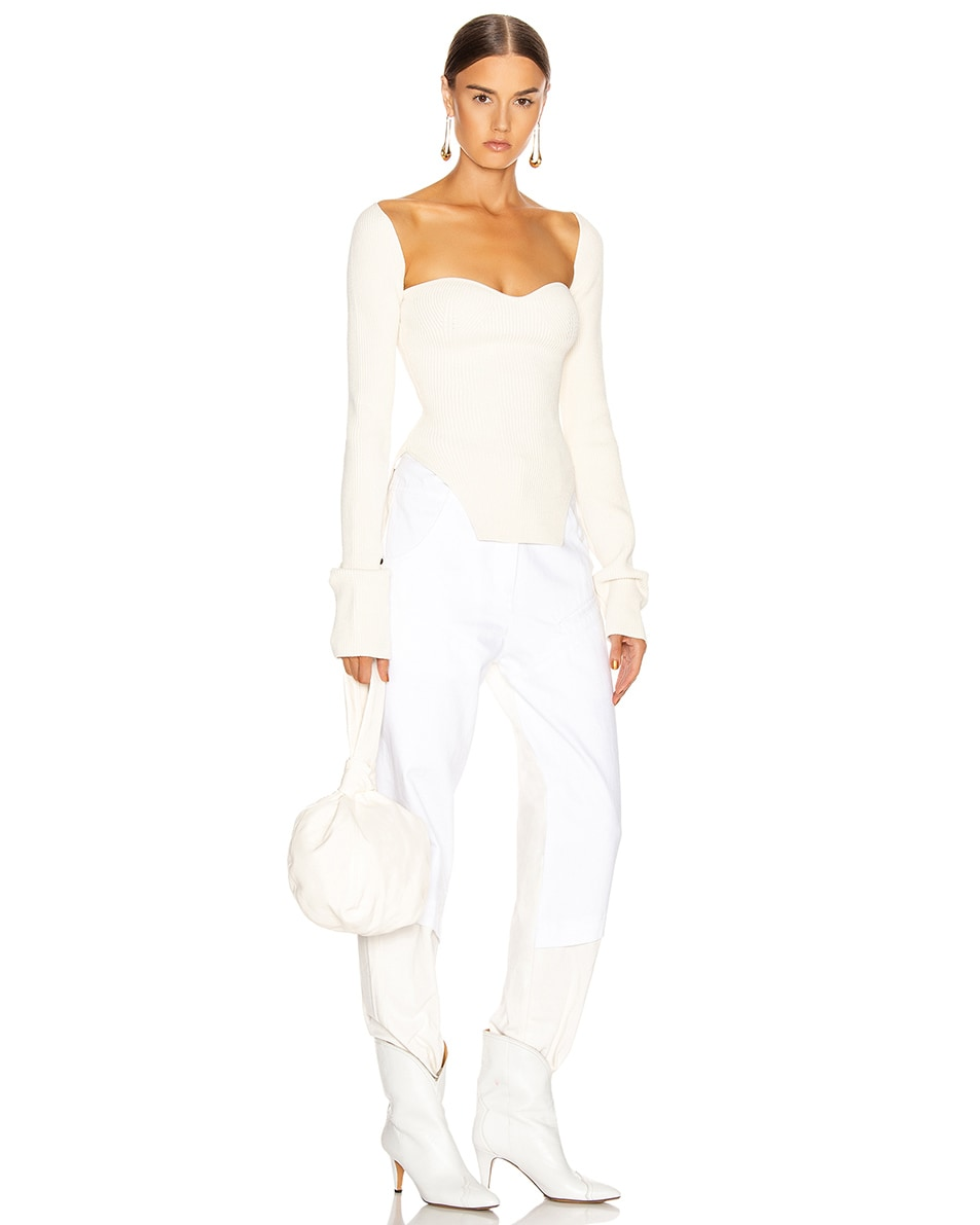 Image 2 of Lemaire Purse Bag in Off White