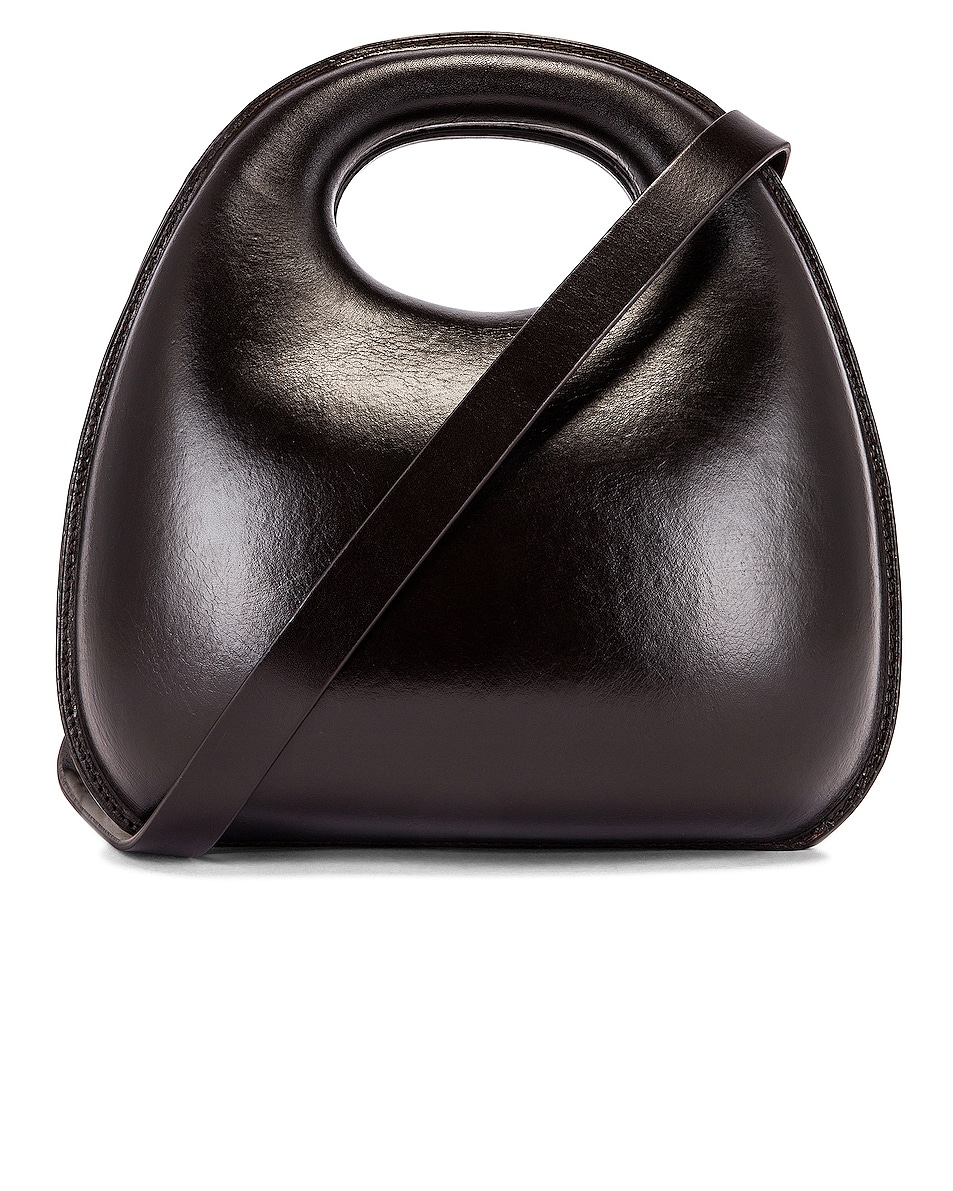 Image 1 of Lemaire Egg Bag in Dark Chocolate