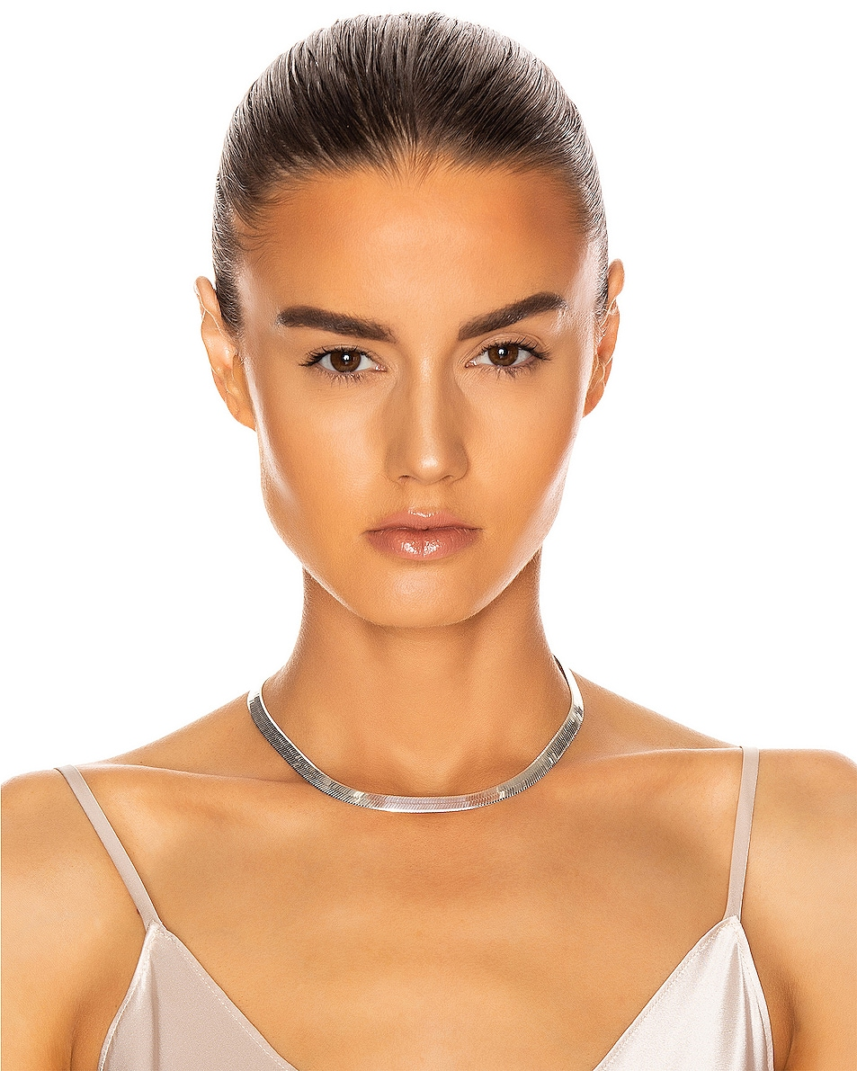 Image 2 of Loren Stewart XL Herringbone Necklace in Sterling Silver