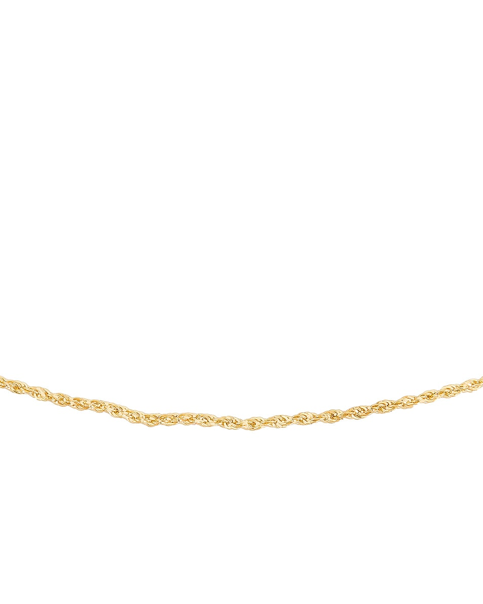 Image 3 of Loren Stewart Rope Chain Necklace in Yellow Gold