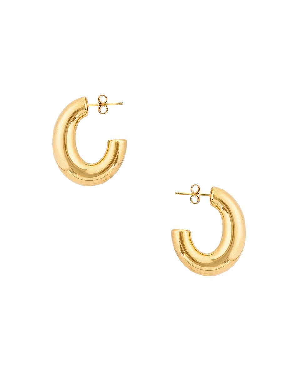 Image 1 of Loren Stewart Medium Pompa Hoop Earrings in Vermeil