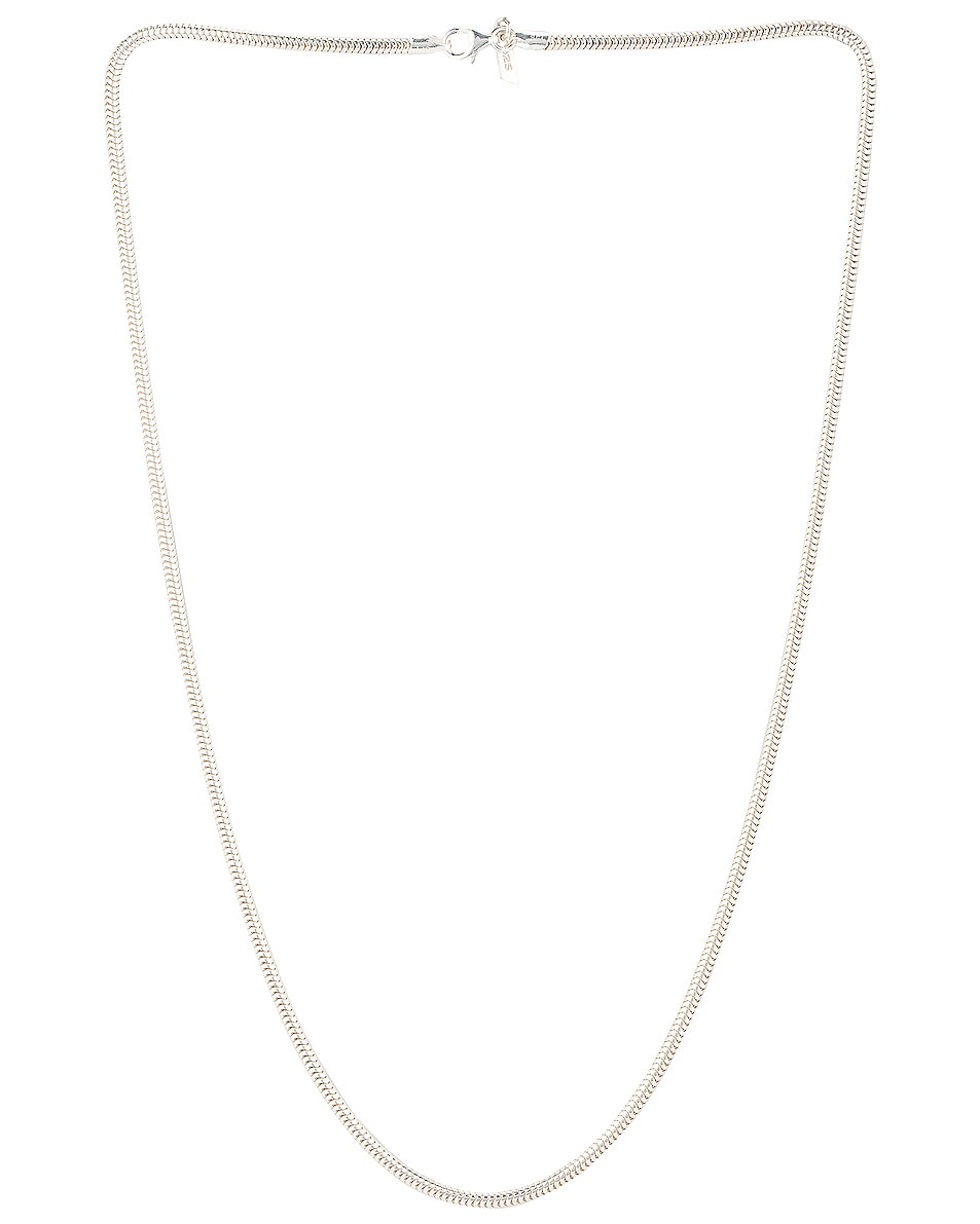 Image 1 of Loren Stewart Snake Chain Necklace in Sterling Silver