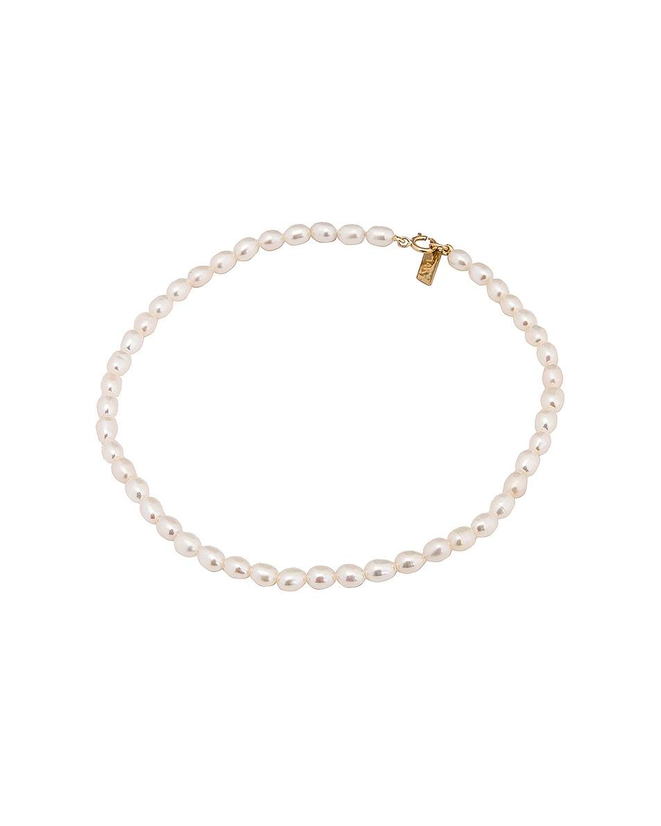 Image 1 of Loren Stewart Rice Pearl Anklet in Pearl