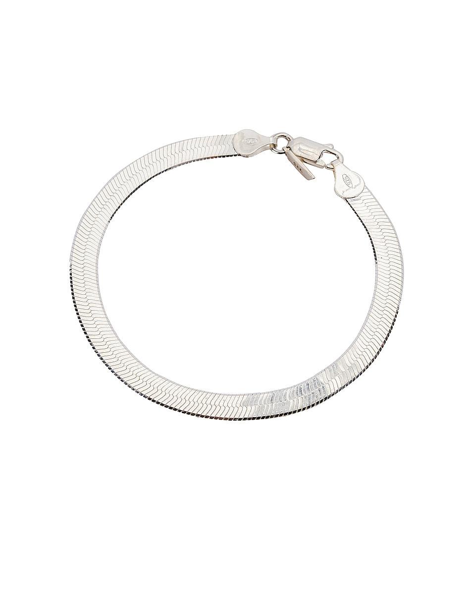 Image 1 of Loren Stewart XL Herringbone Bracelet in Sterling Silver