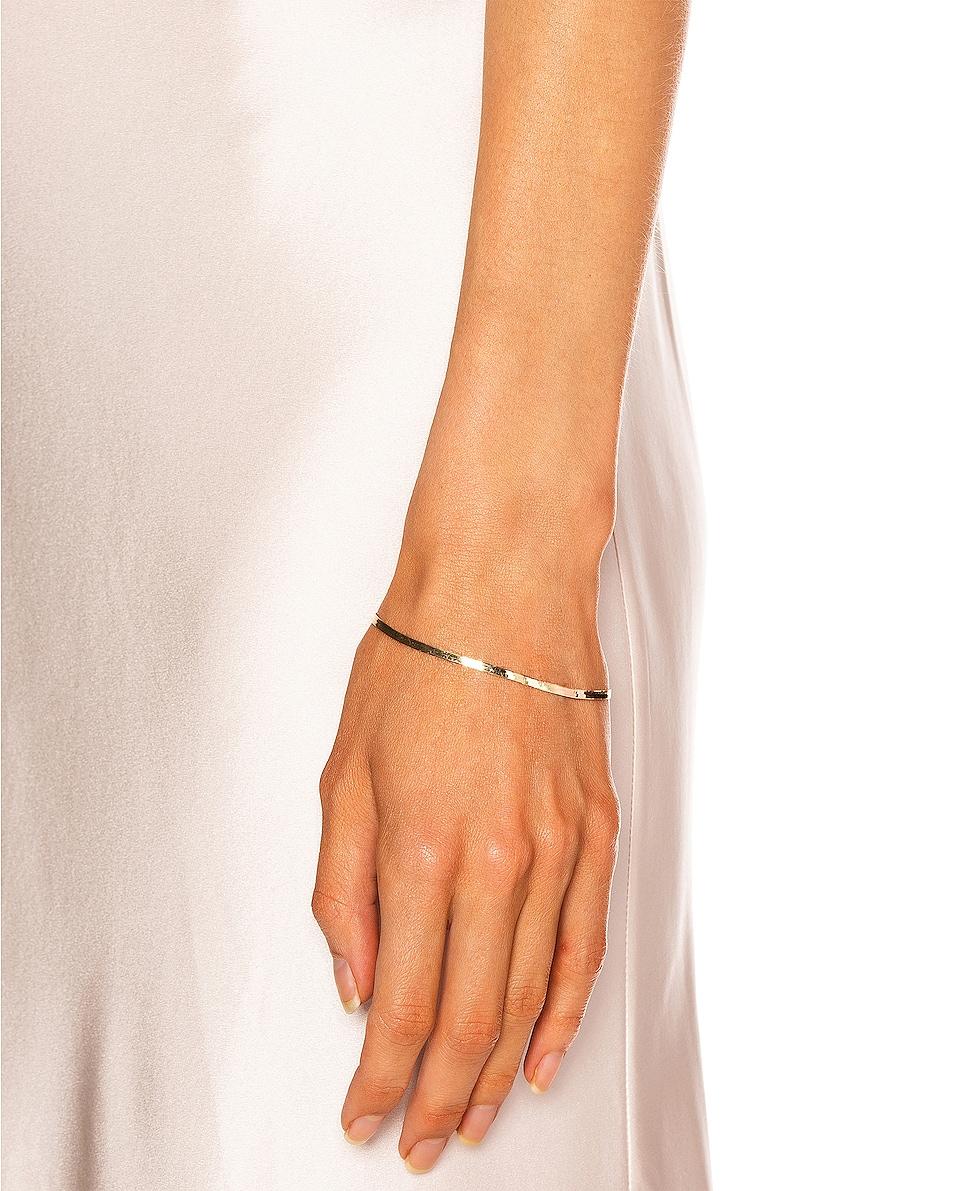 Image 2 of Loren Stewart Herringbone Bracelet in Yellow Gold