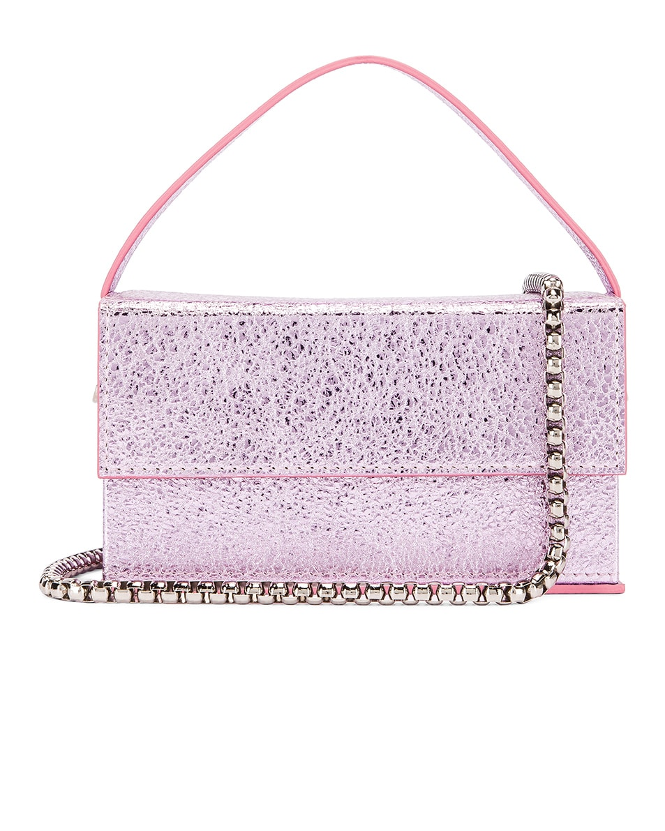 Image 1 of L'Afshar Small Ida in Metallic Pink With Silver Link