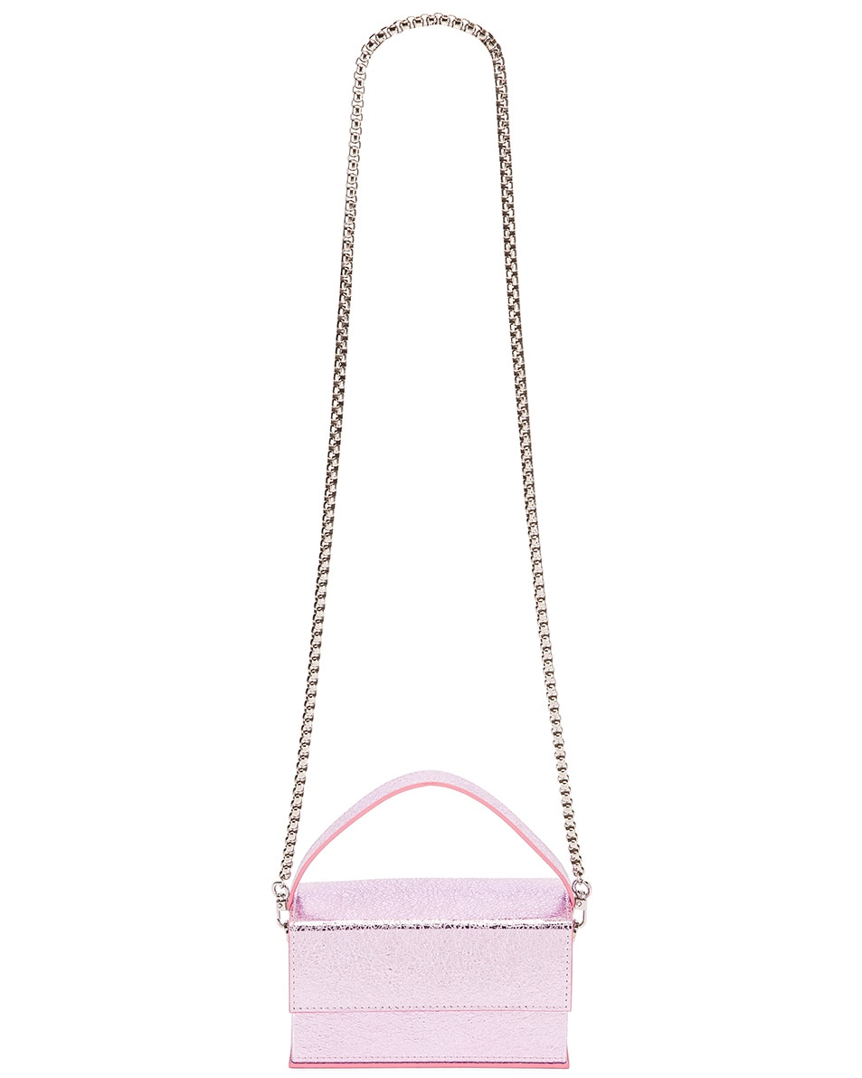 Image 6 of L'Afshar Small Ida in Metallic Pink With Silver Link