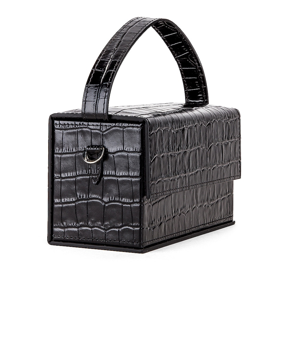 Image 4 of L'Afshar Small Ida in Black With Silver Link