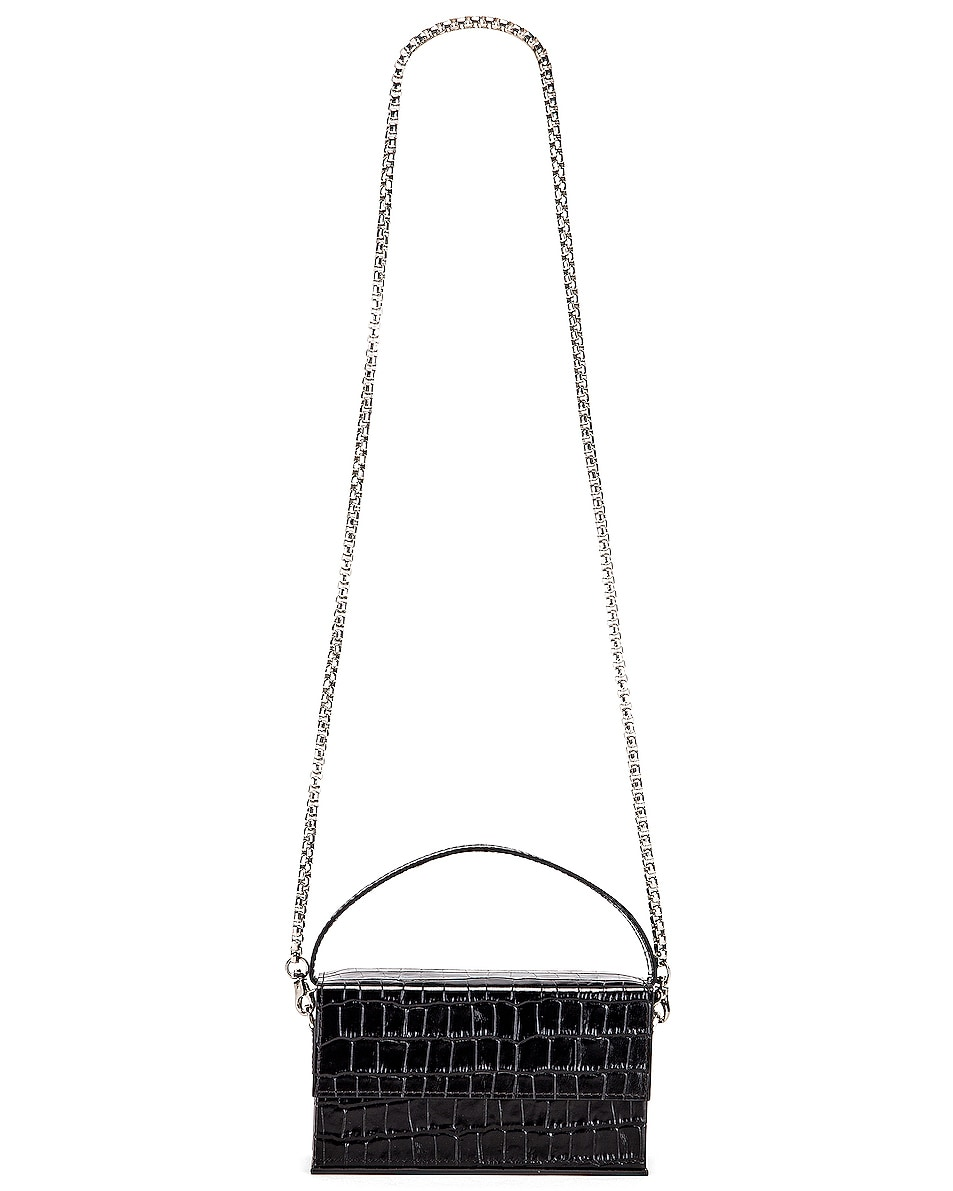 Image 6 of L'Afshar Small Ida in Black With Silver Link