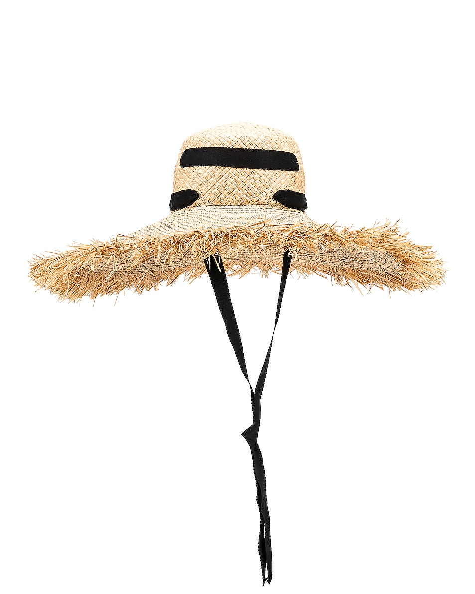 Image 1 of Lola Hats Alpargatas Bis Hat in Natural & Black