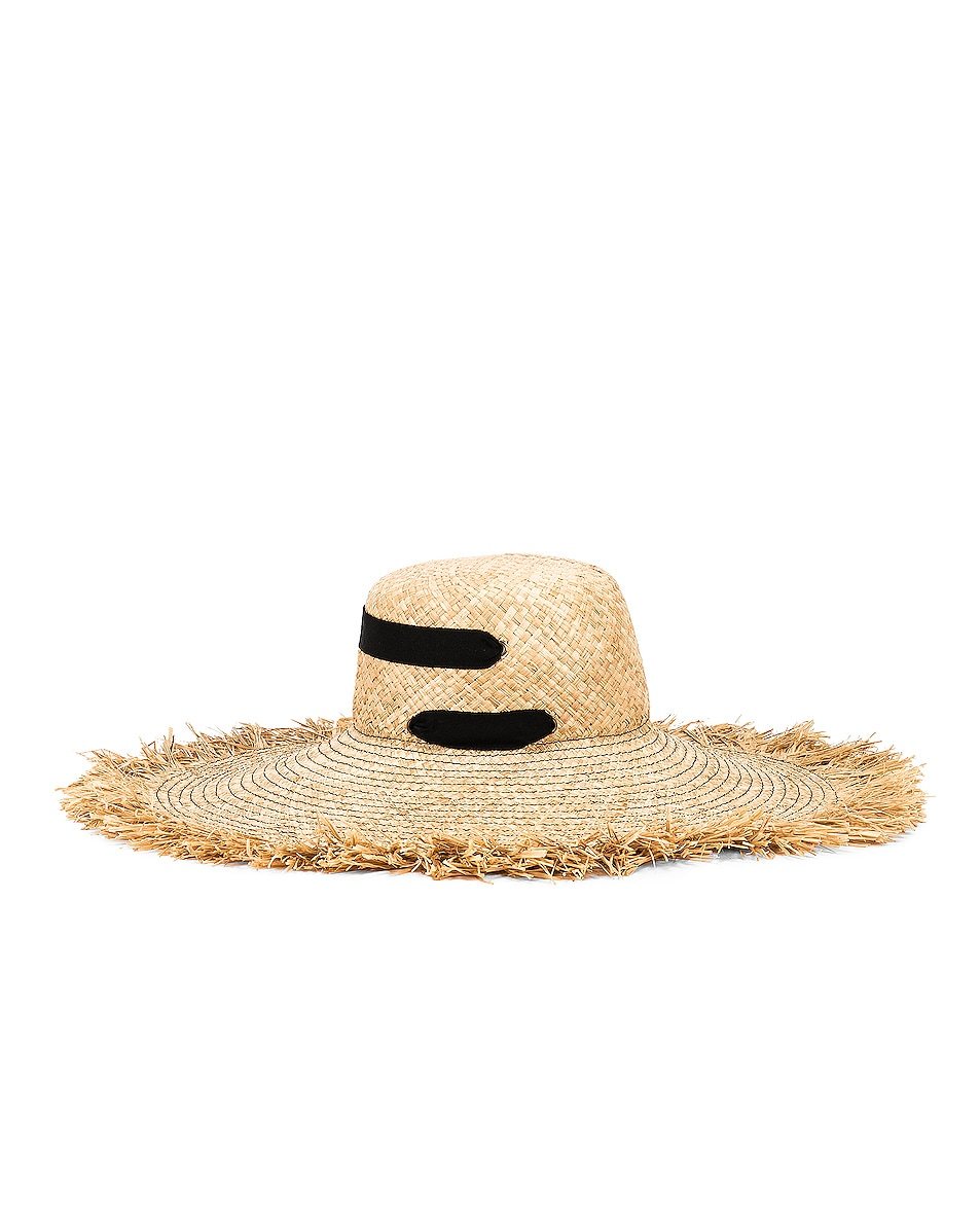 Image 3 of Lola Hats Alpargatas Bis Hat in Natural & Black