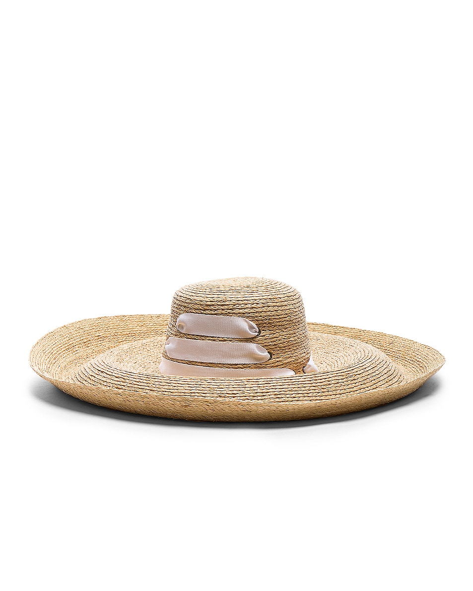 Image 1 of Lola Hats for FWRD Espartina Hat in Natural & White