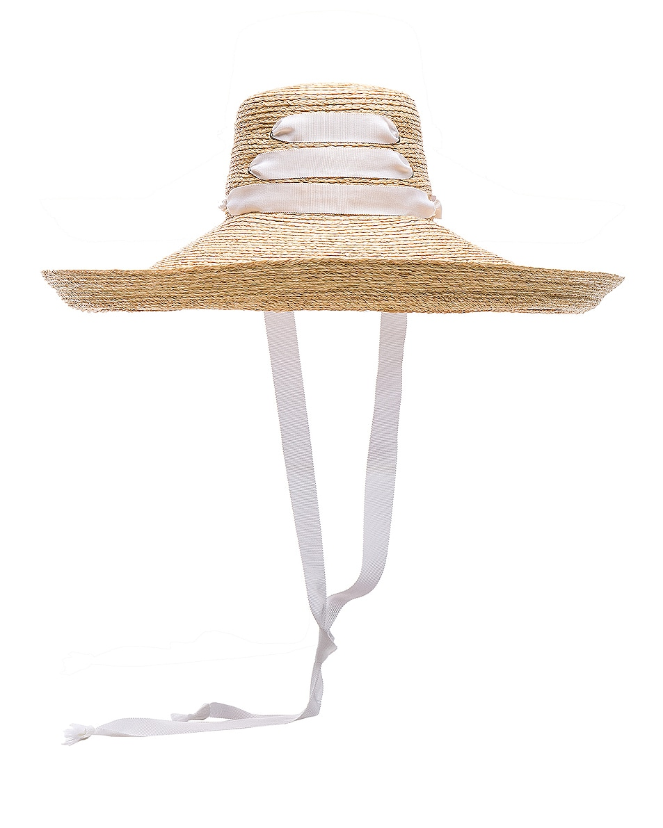Image 2 of Lola Hats for FWRD Espartina Hat in Natural & White