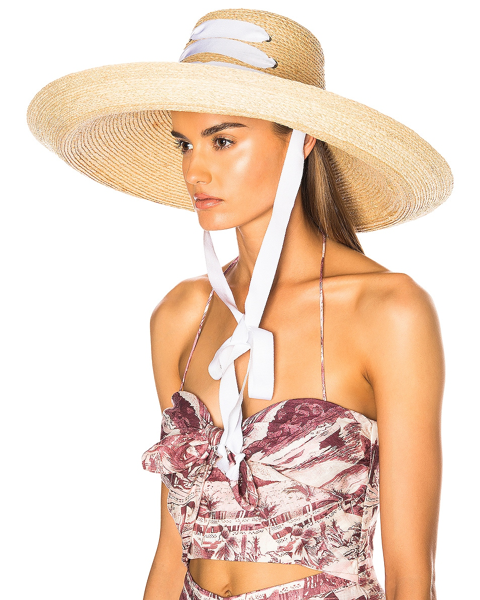 Image 5 of Lola Hats for FWRD Espartina Hat in Natural & White