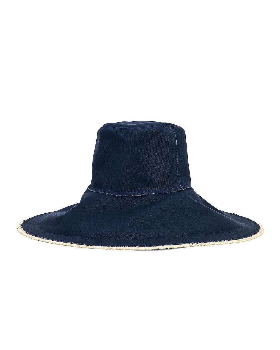Image 3 of Lola Hats Single Take in Natural & Navy