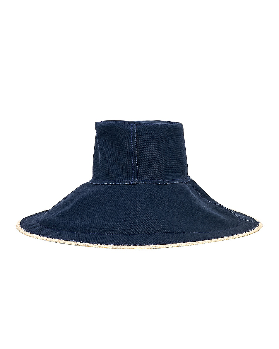Image 4 of Lola Hats Single Take in Natural & Navy
