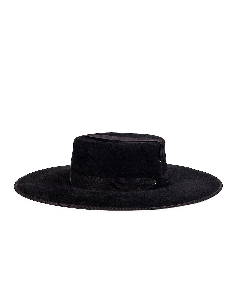 Image 1 of Lola Hats Zorro Felt Hat in Black