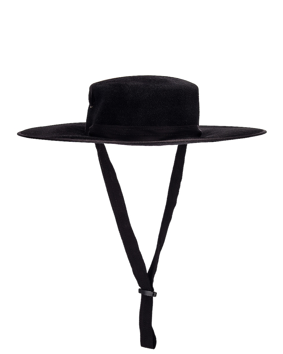 Image 2 of Lola Hats Zorro Felt Hat in Black