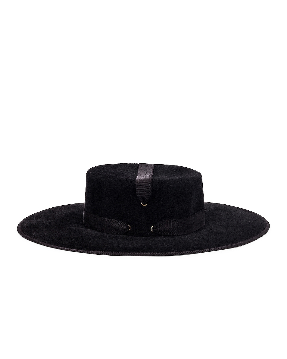 Image 3 of Lola Hats Zorro Felt Hat in Black