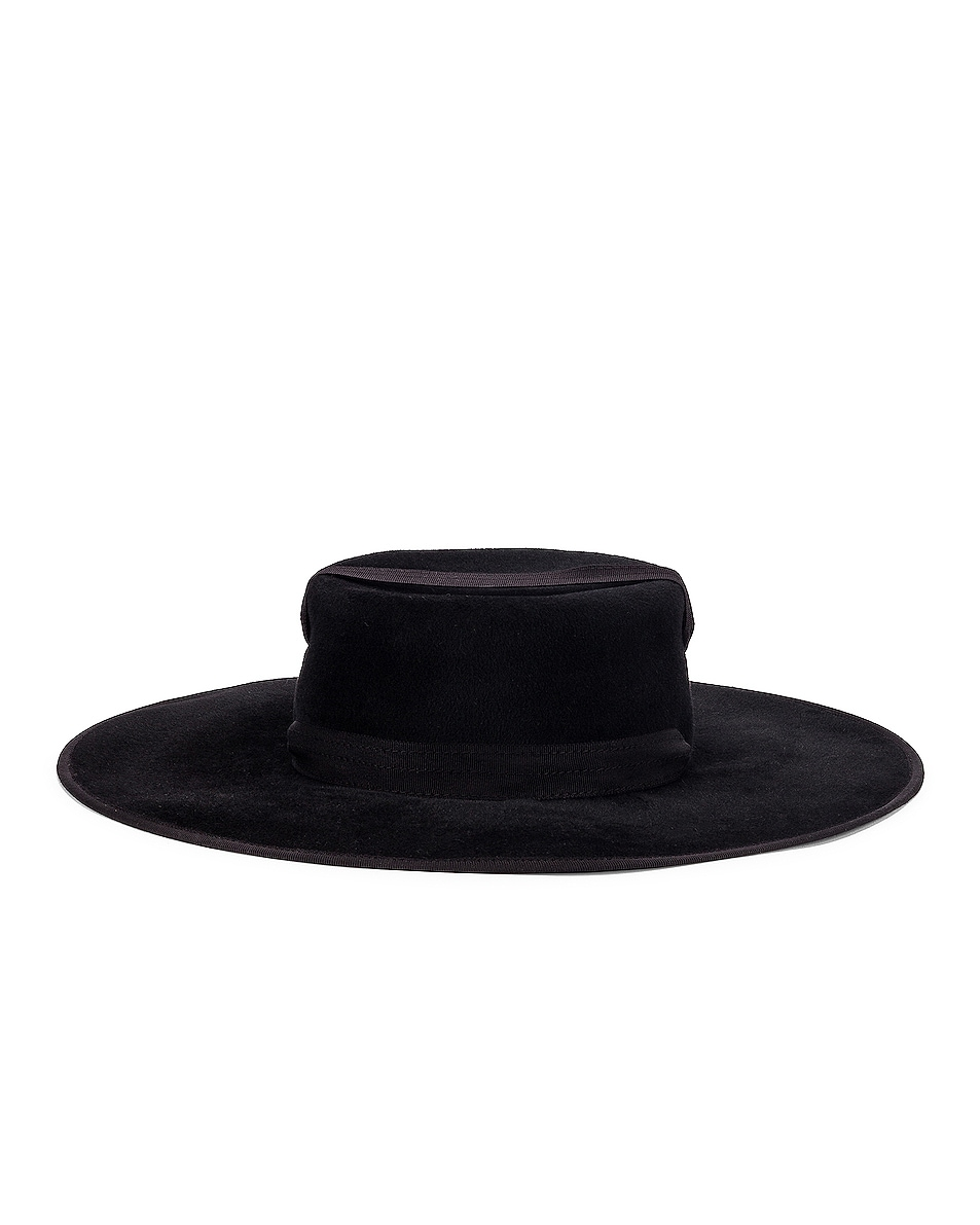 Image 4 of Lola Hats Zorro Felt Hat in Black