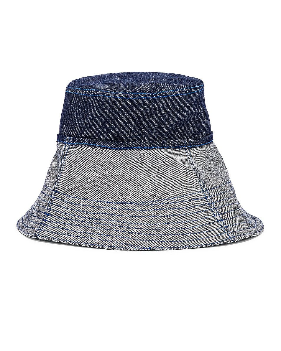 Image 4 of Lola Hats Cuffed Bucket Hat in Blue Denim