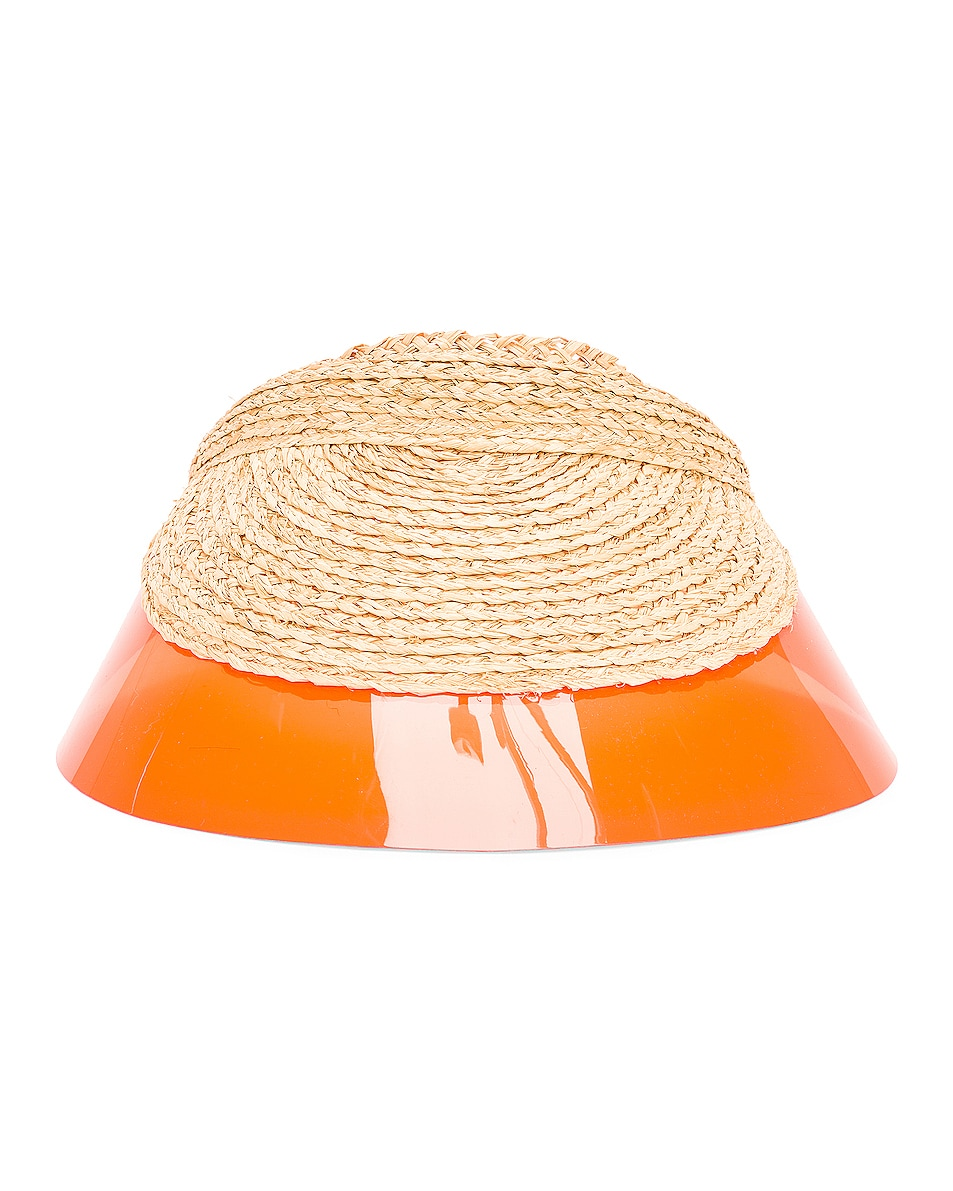 Image 1 of Lola Hats Billiard Visor in Natural & Orange
