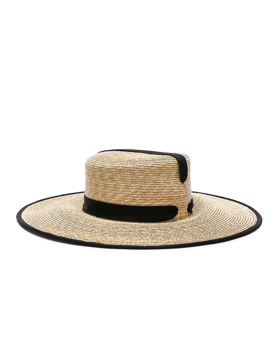 Image 1 of Lola Hats Zorro Hat in Natural & Black