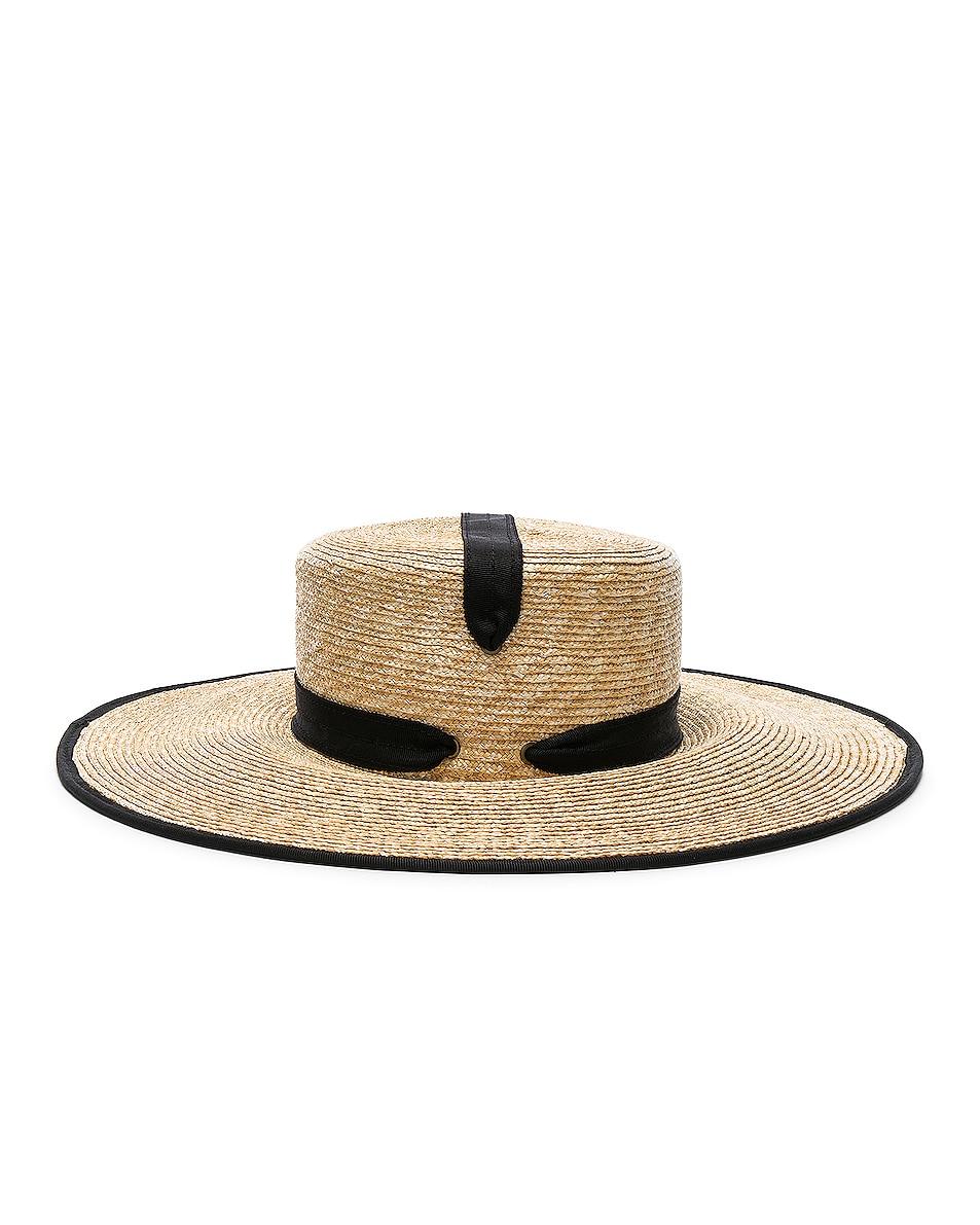 Image 3 of Lola Hats Zorro Hat in Natural & Black