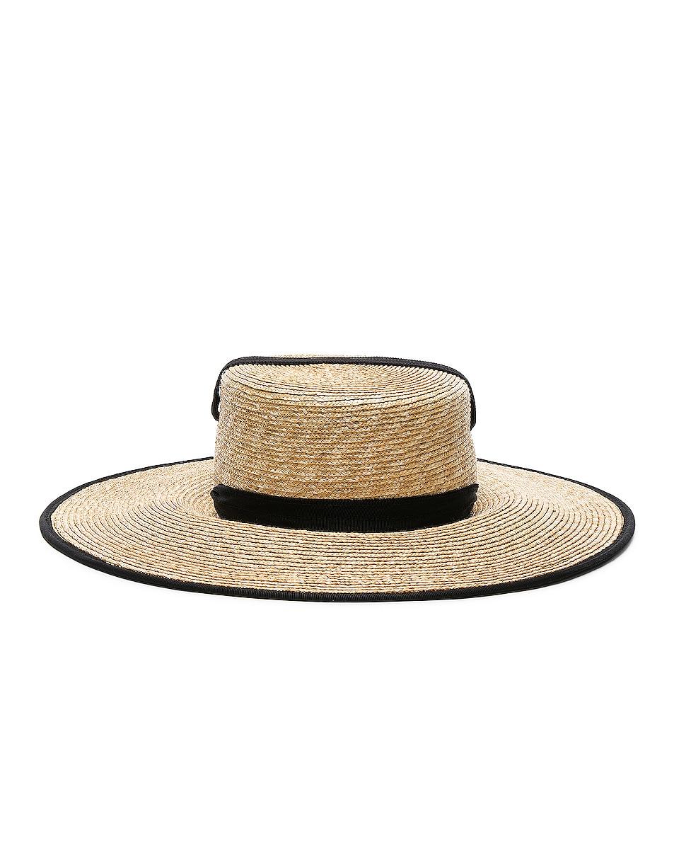 Image 4 of Lola Hats Zorro Hat in Natural & Black