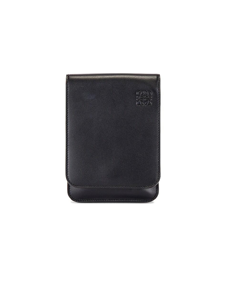 Image 1 of Loewe Gusset Flat Crossbody Bag in Black