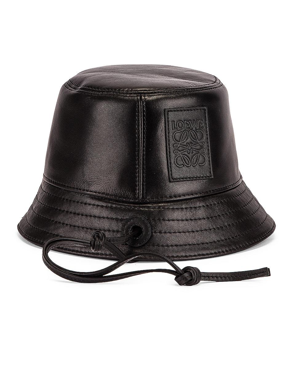 Image 1 of Loewe Strap Bucket Hat in Black