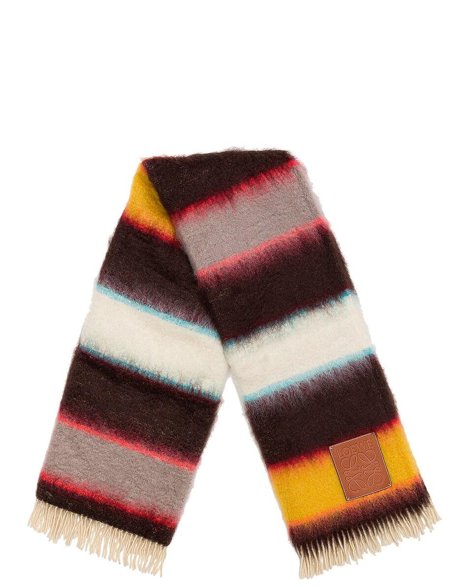 Image 2 of Loewe Mohair Stripes Blanket in Multicolor
