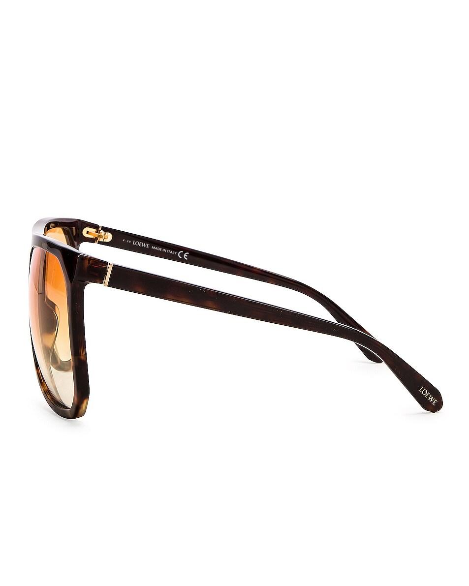 Image 3 of Loewe Big Acetate Sunglasses in Brown