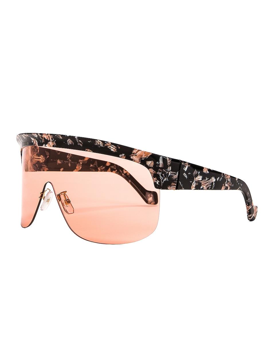 Image 2 of Loewe Shield Sunglasses in Colored Havana & Bordeaux