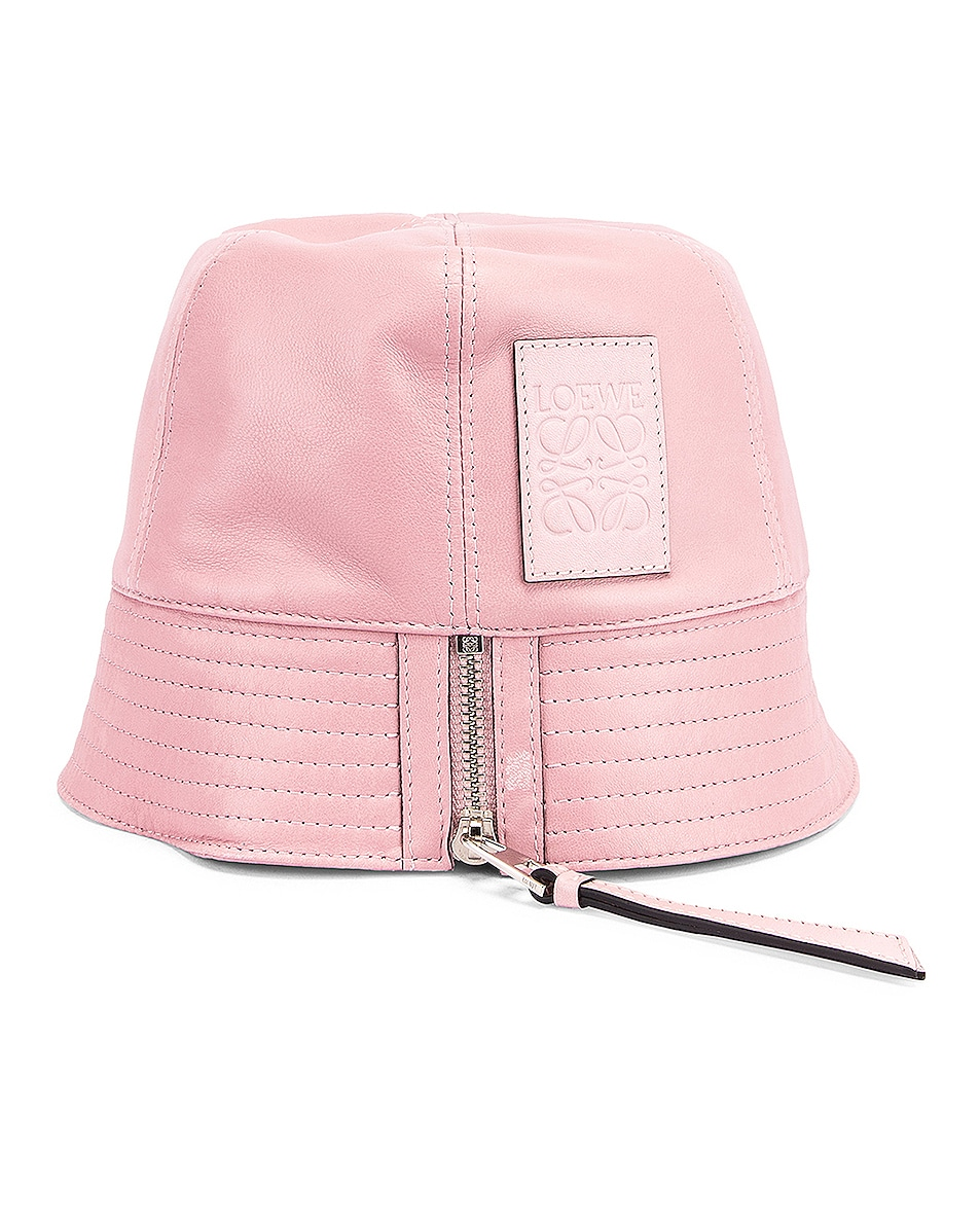 Image 4 of Loewe Leather Bucket Hat in Icy Pink