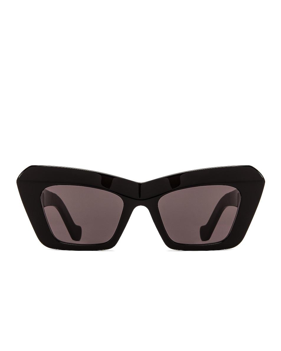 Image 1 of Loewe Acetate Cateye Sunglasses in Shiny Black & Smoke