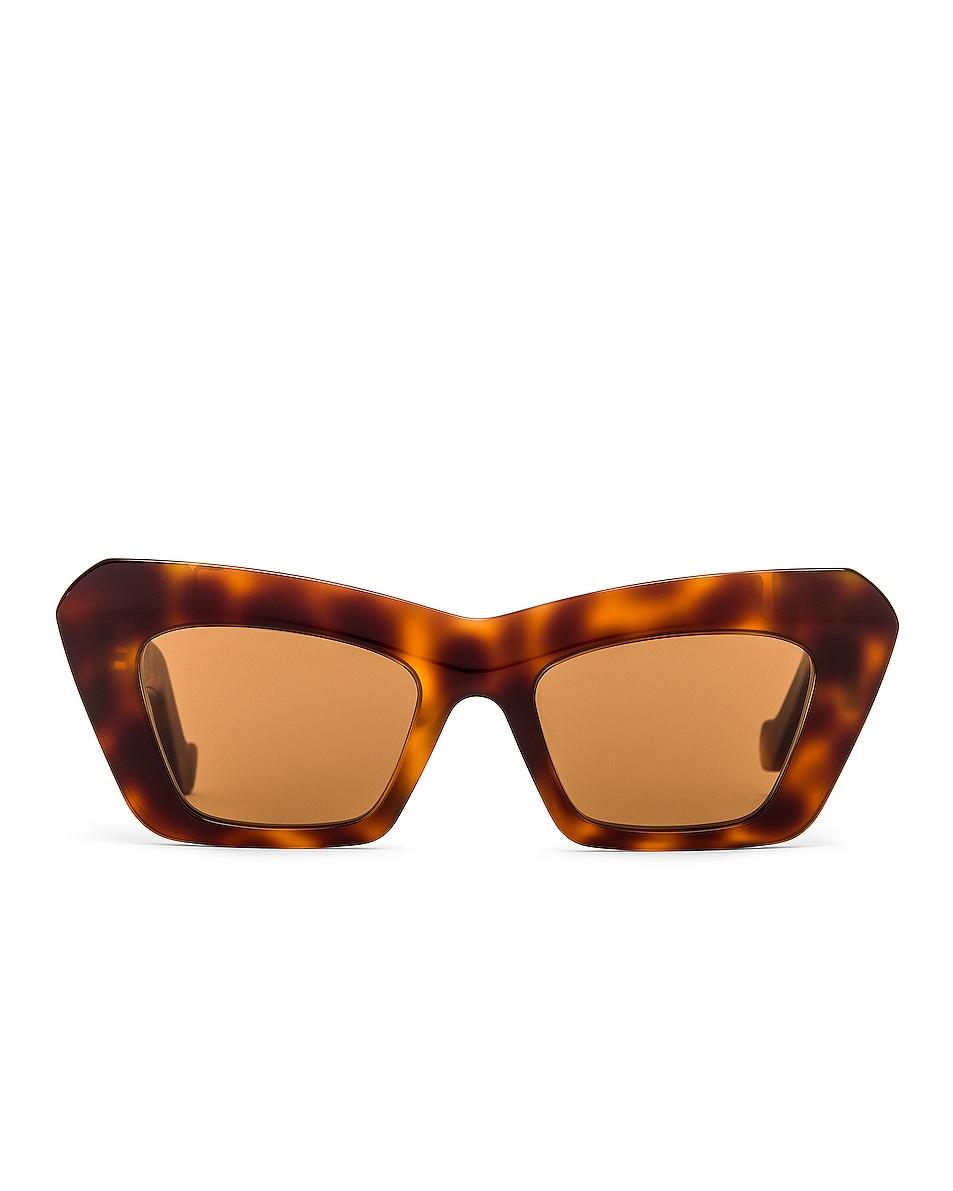 Image 1 of Loewe Acetate Cateye Sunglasses in Blonde Havana & Brown