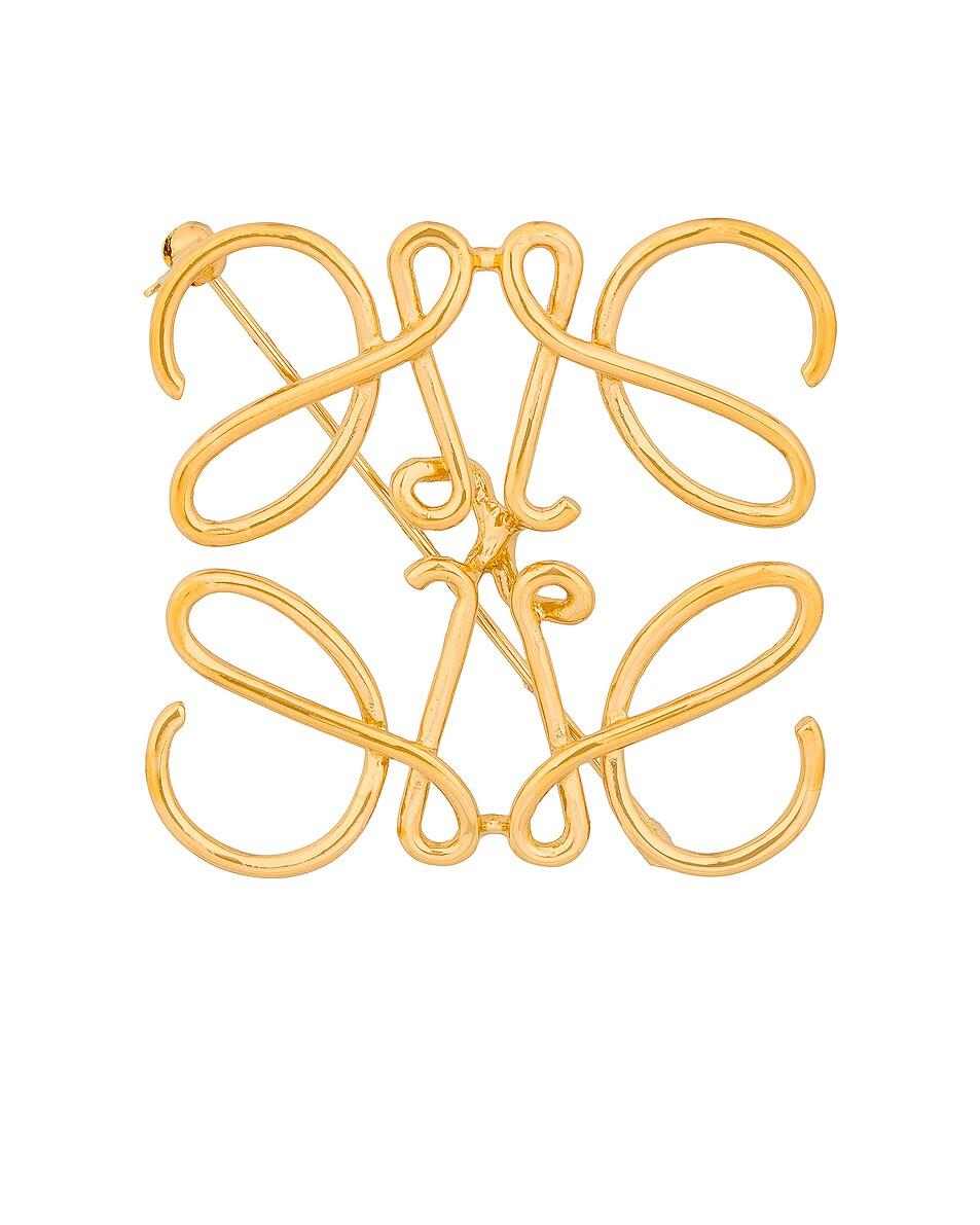 Image 1 of Loewe Anagram Brooch in Gold