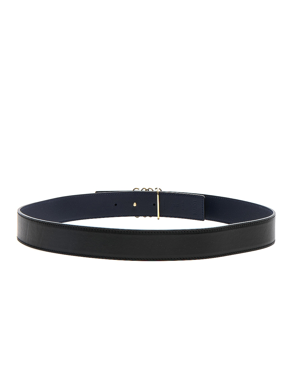 Image 3 of Loewe Anagram Belt in Black, Navy & Gold