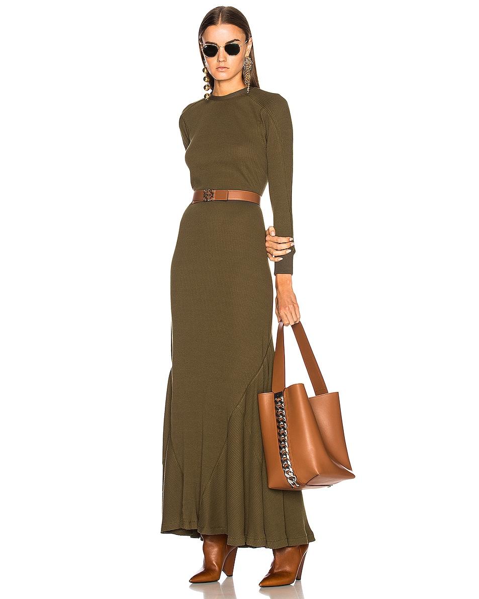 Image 2 of Loewe Anagram Belt in Tan, Black & Gold