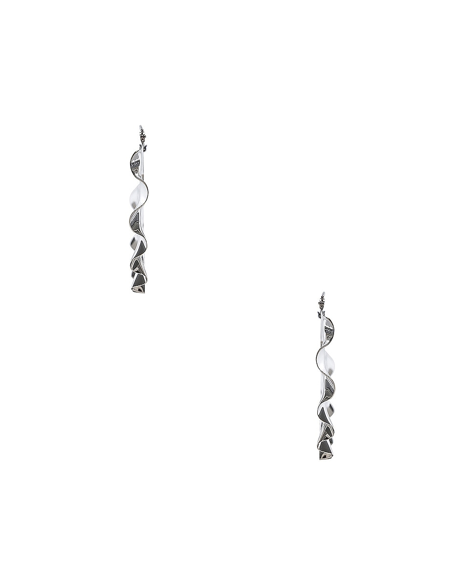 Image 2 of Loewe Frills Earrings in Palladium